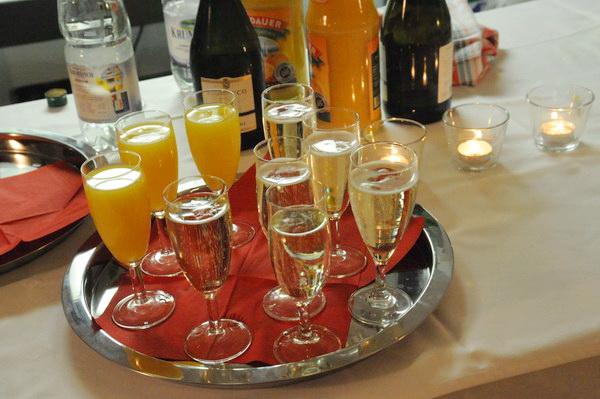 Der Sektempfang – die Gäste können kommen!