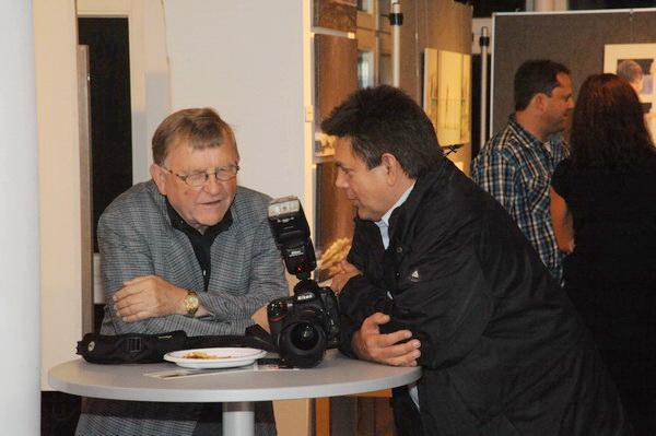 Zwei Fotofreunde im Gespräch...