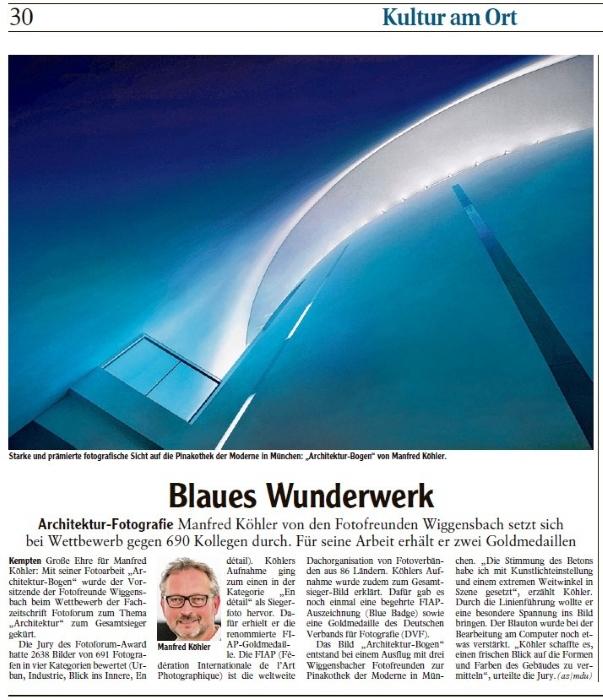 Bericht in der Allgäuer Zeitung