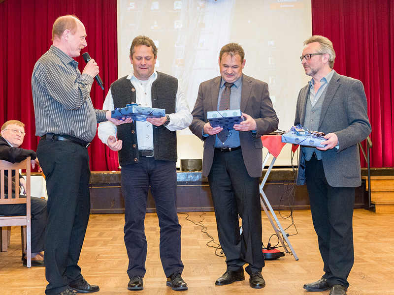 Von links nach rechts: Norbert Germann, Peter Wagner (Kassenwart), Günther Just (2. Vorsitzender), Manfred Köhler (1. Vorsitzender).